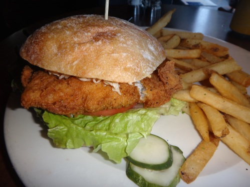 Frie cod sandwich