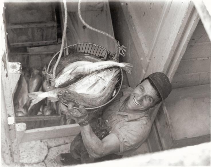 Bikie in fish hold