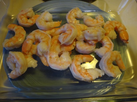 Leftover cooked shrimp
