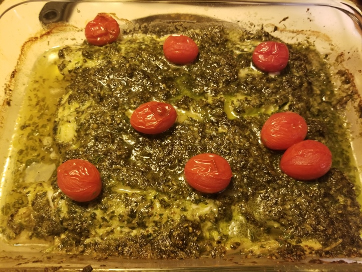 Haddock with Pesto