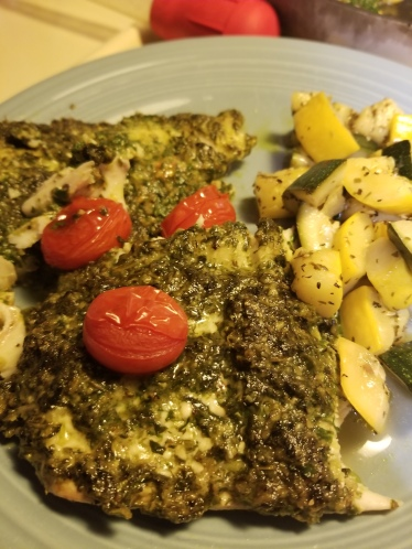 Pesto Haddock Plated