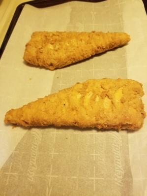 Frozen cod fillets