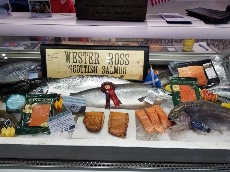 wester ross scottish salmon display