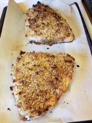 baked breaded swordfish
