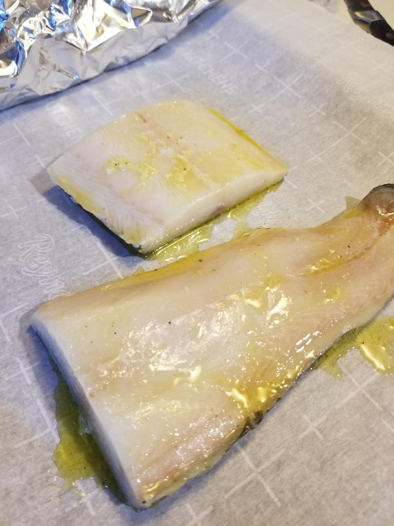 black cod marinated