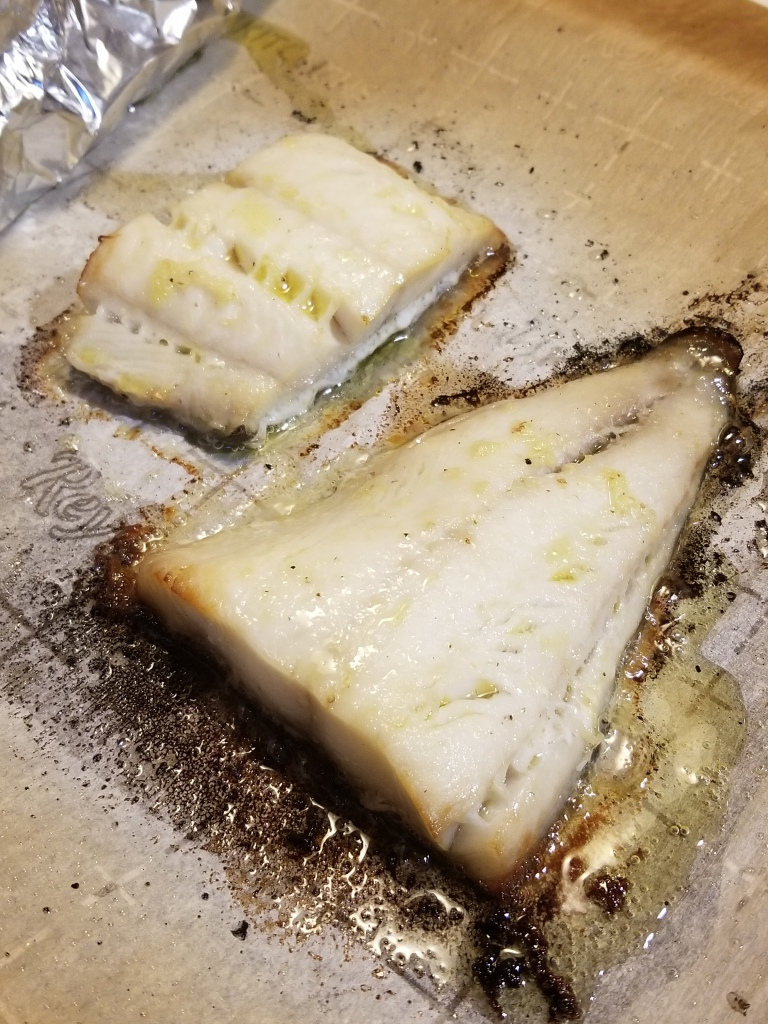 baked black cod with gin