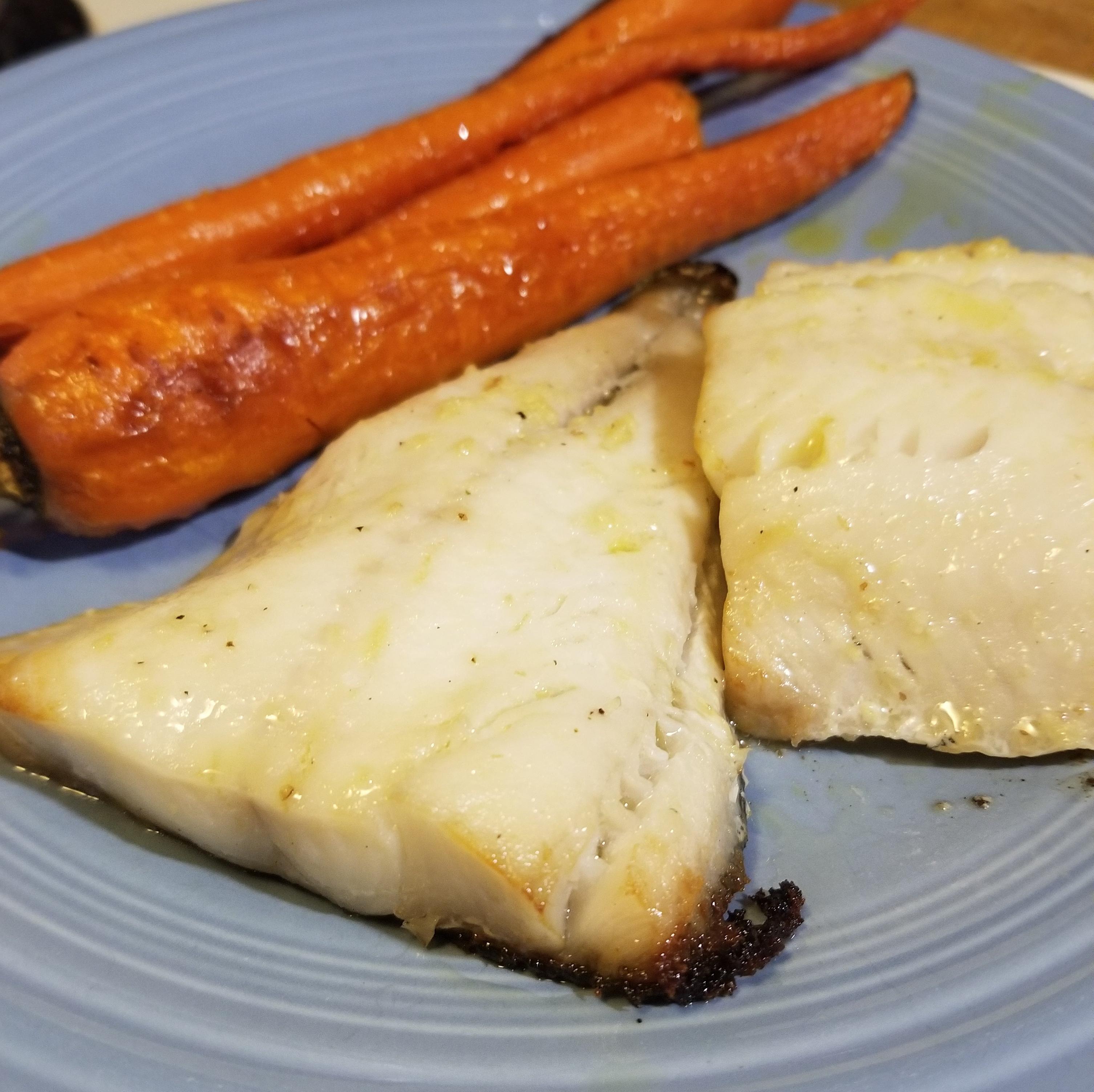 gin marinated sablefish