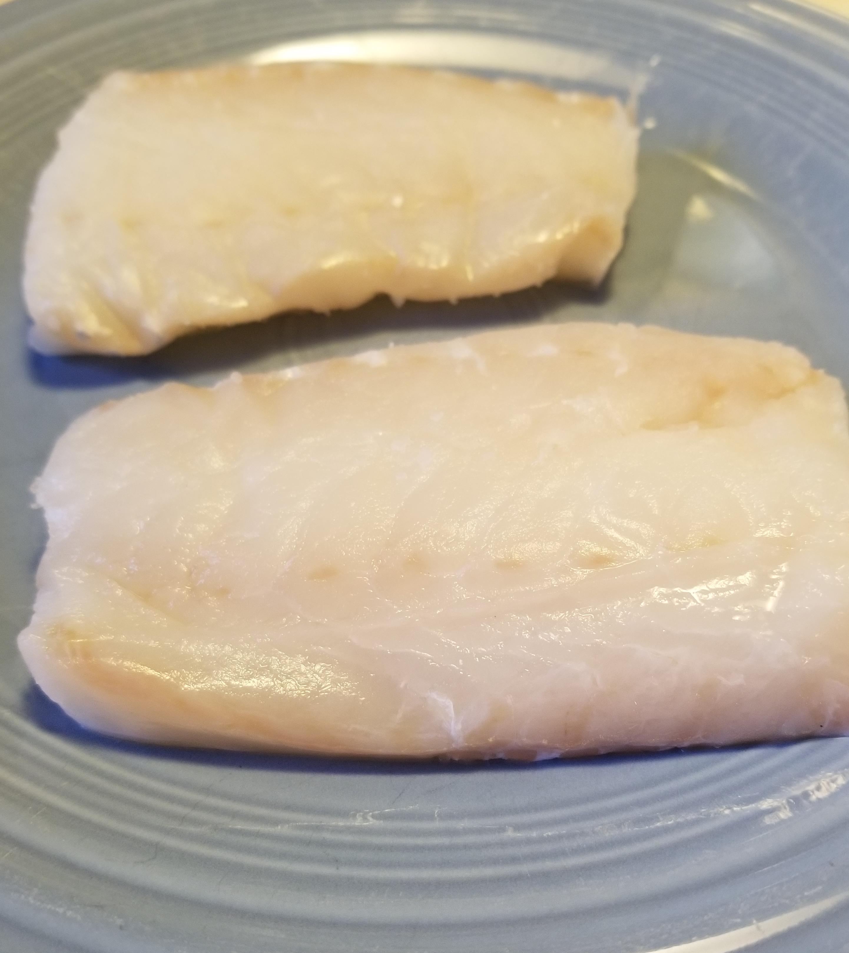 thawed Icelandic cod