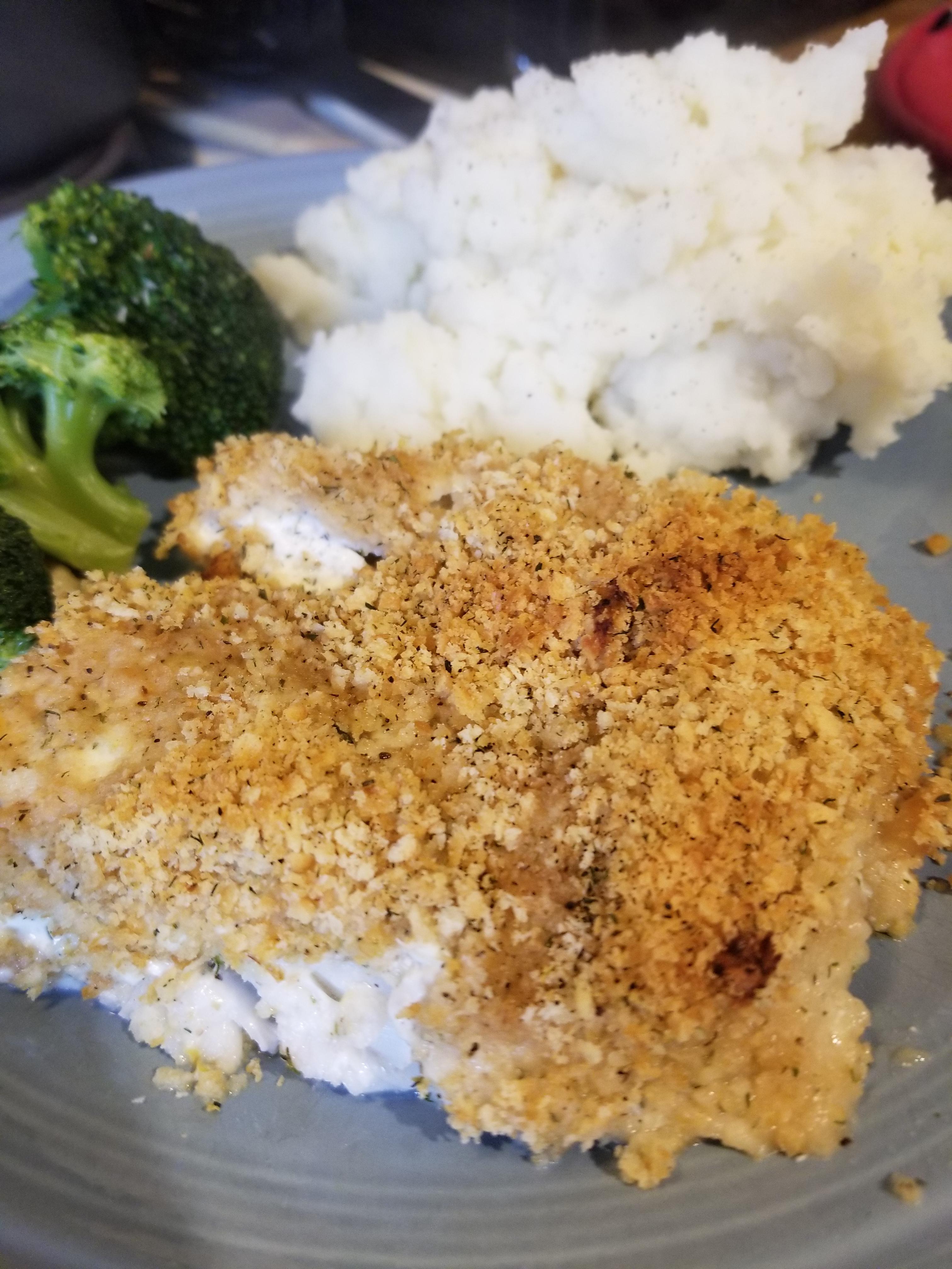 creamy dill baked haddock