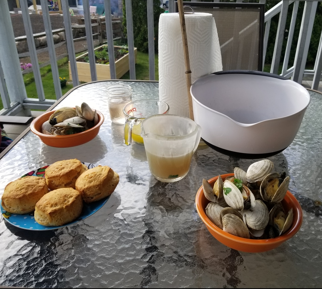 steamers on back porch