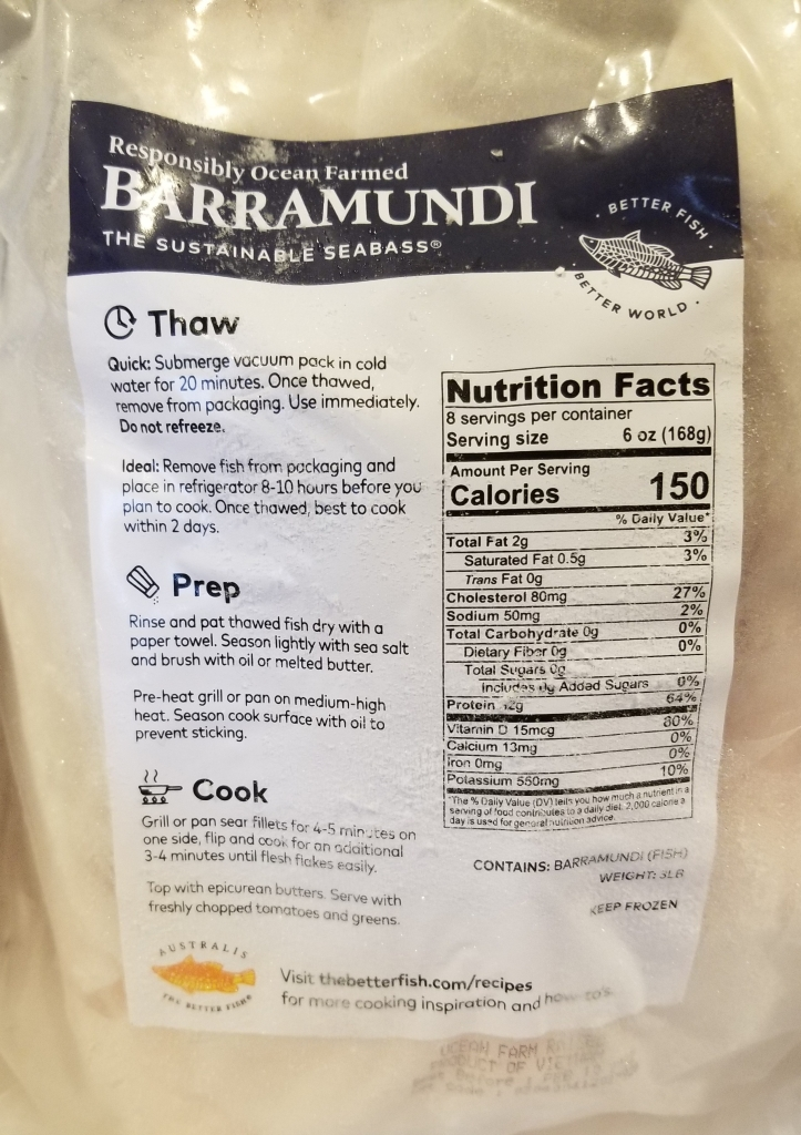 frozen barramundi