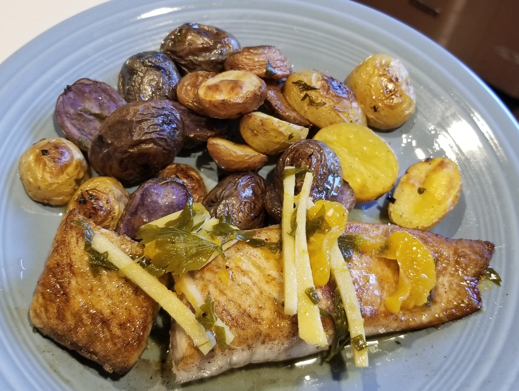 pan seared barramundi