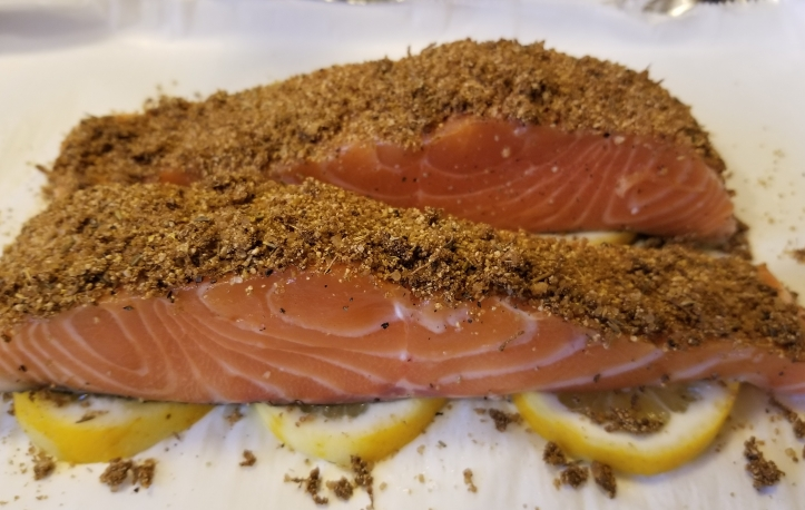 Faroe Island Salmon with dry rub