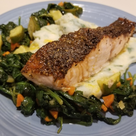 Faroe Island Salmon with Brown Sugar rub