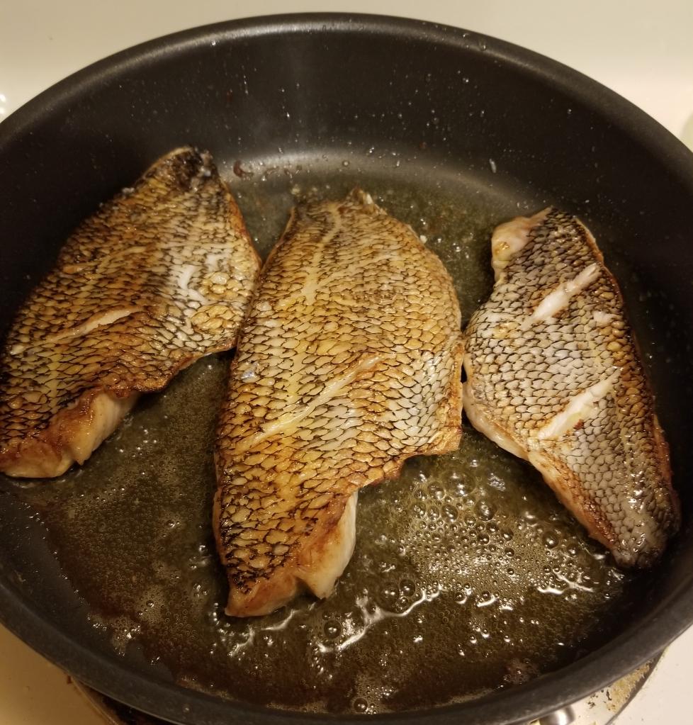 searing sea bass
