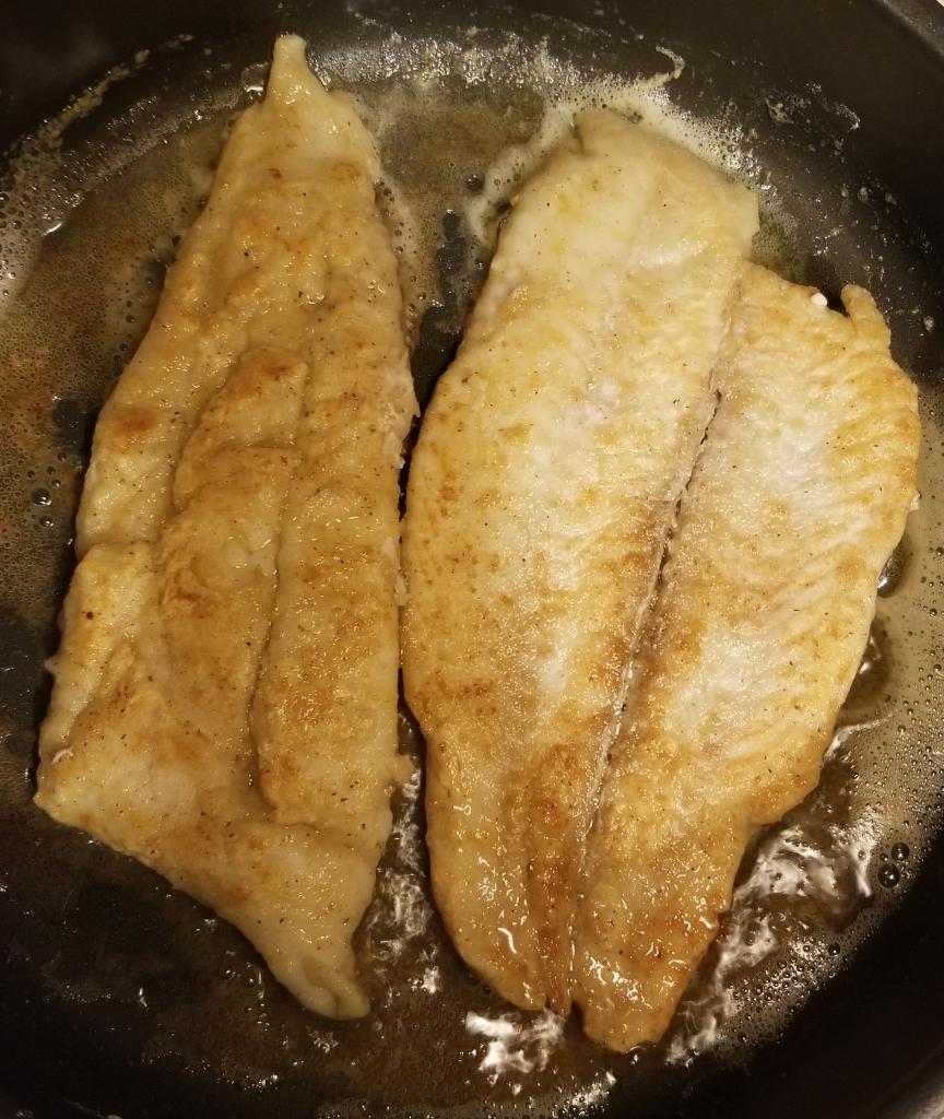 Pan fry fluke summer flounder