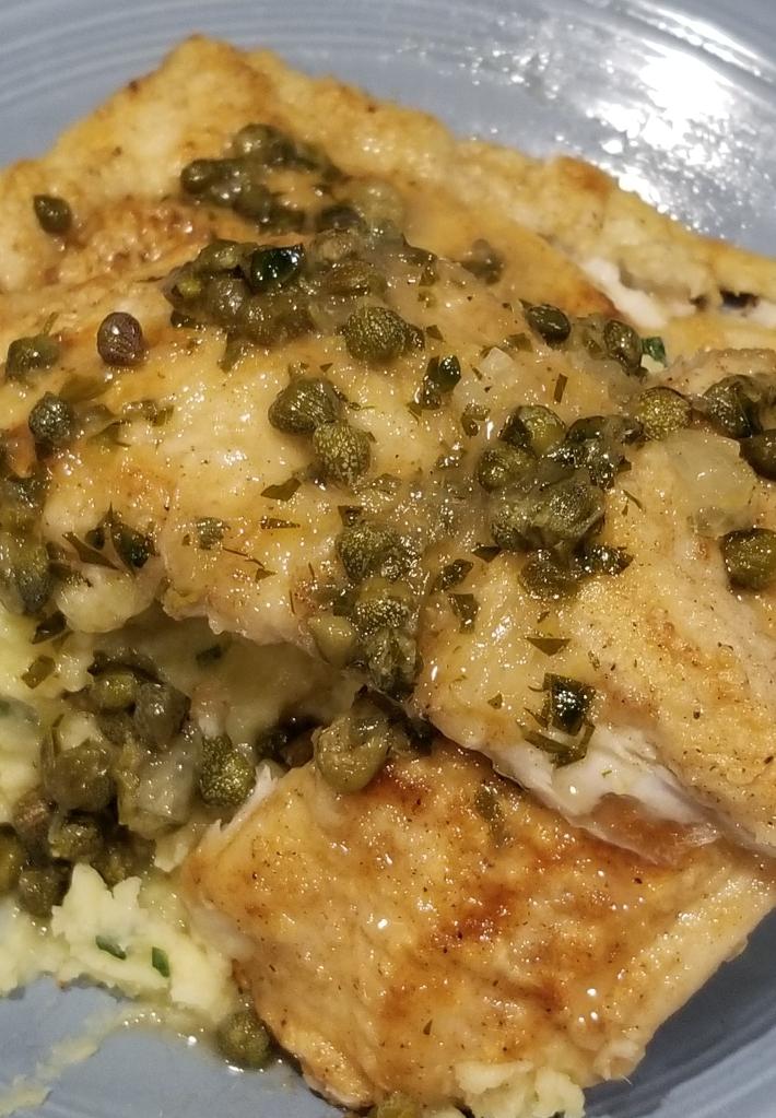 summer flounder grenobloise