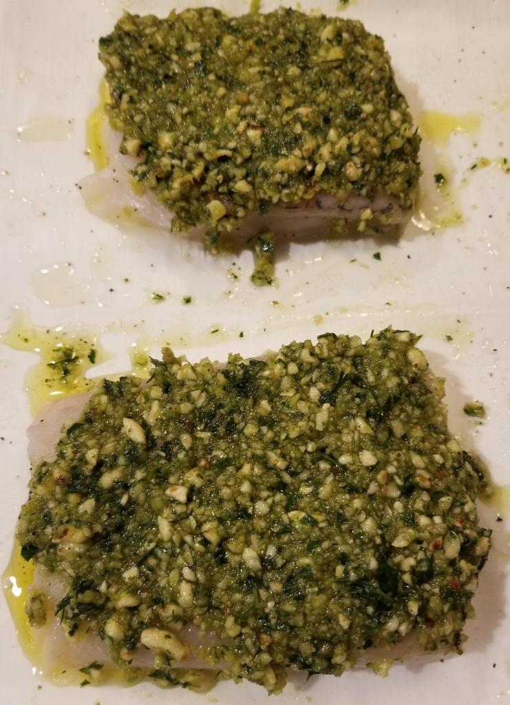 hazelnut herb haddock
