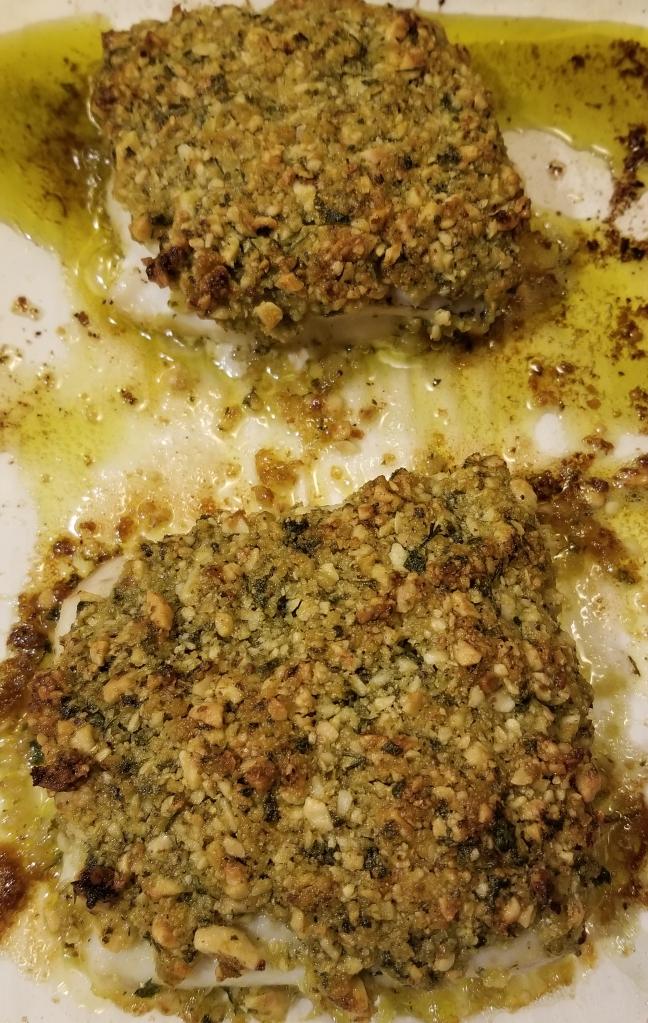 Hazelnut herb iceland haddock done