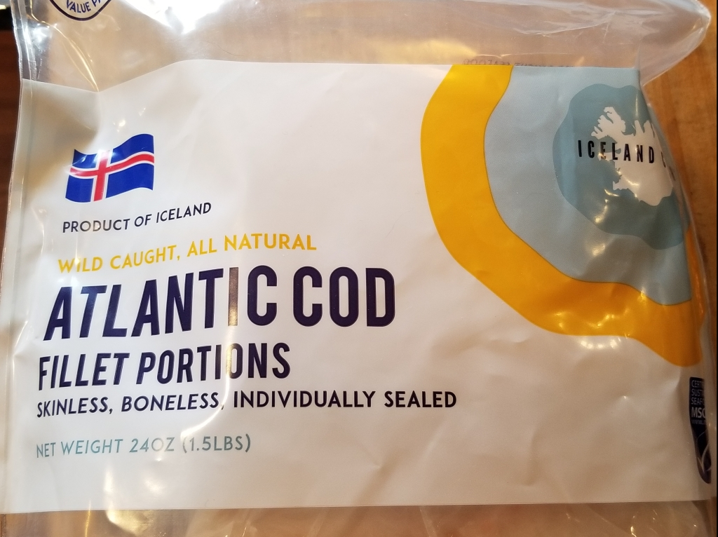 Iceland catch cod package front