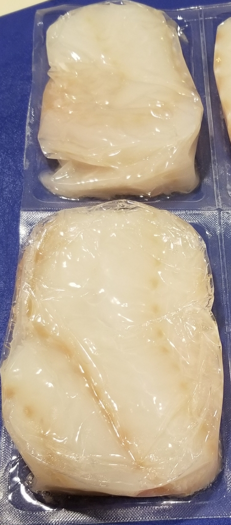 Thawed iceland catch cod