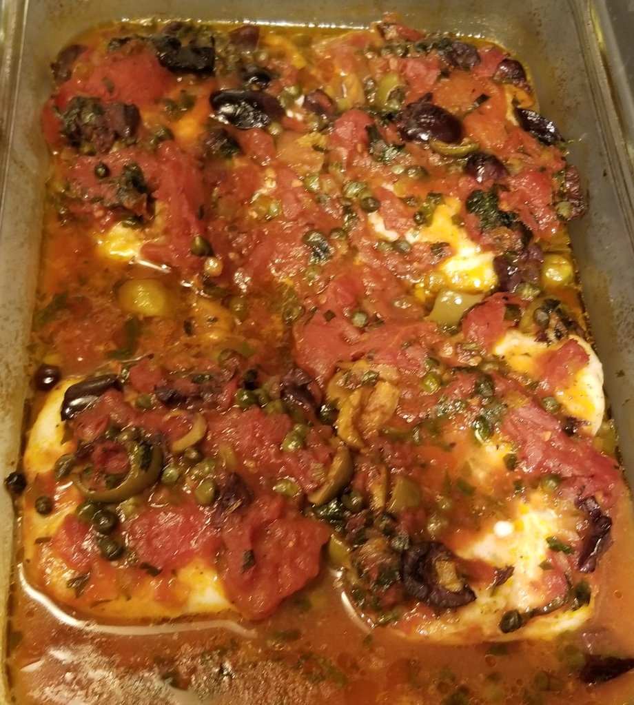Iceland Catch cod livornese out of oven