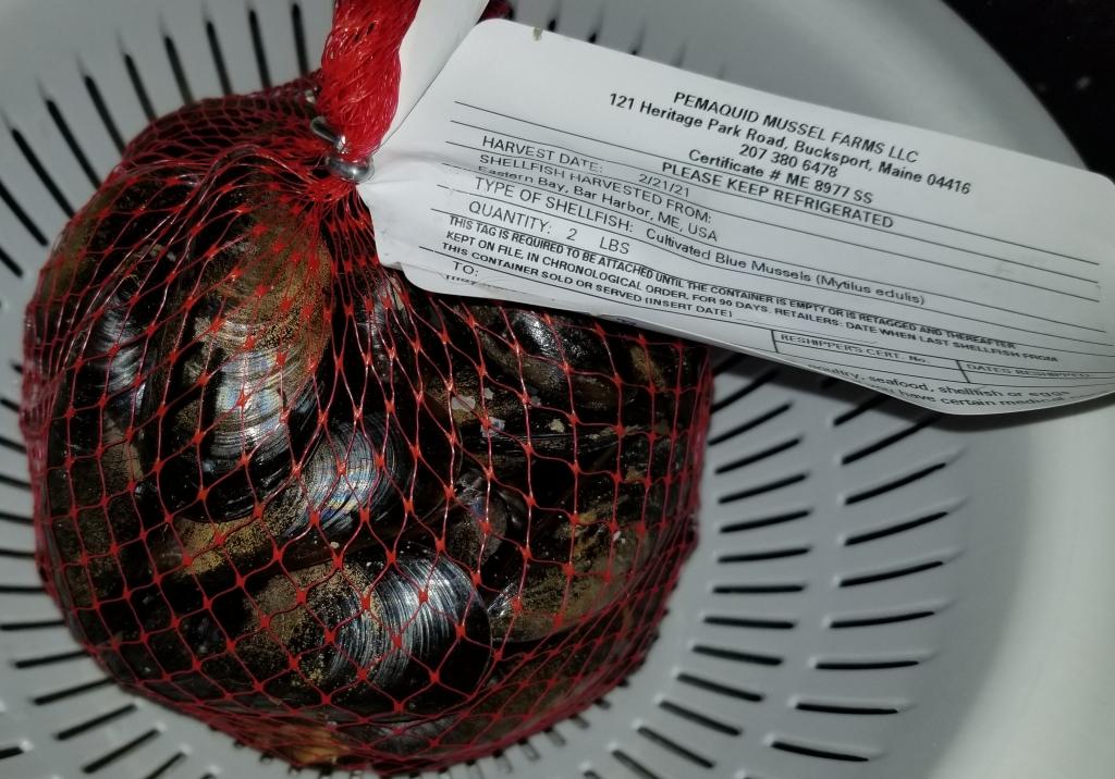 2 pound bag pemaquid mussels